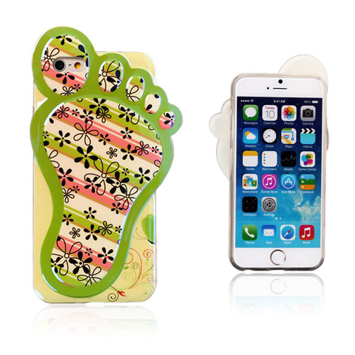 Bilde av 3D Foot (Floret Og Striper) iPhone 6 Deksel