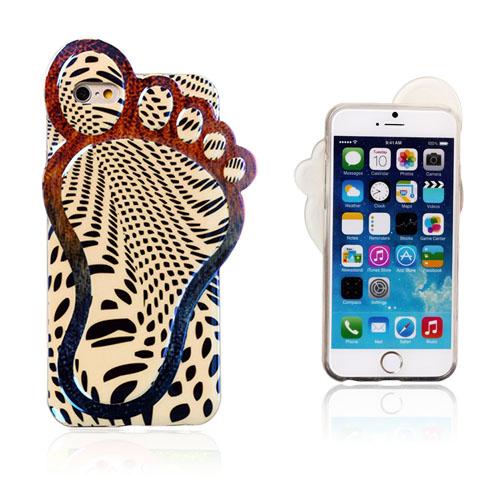 3D Foot (Sort Mønster) iPhone 6 Deksel
