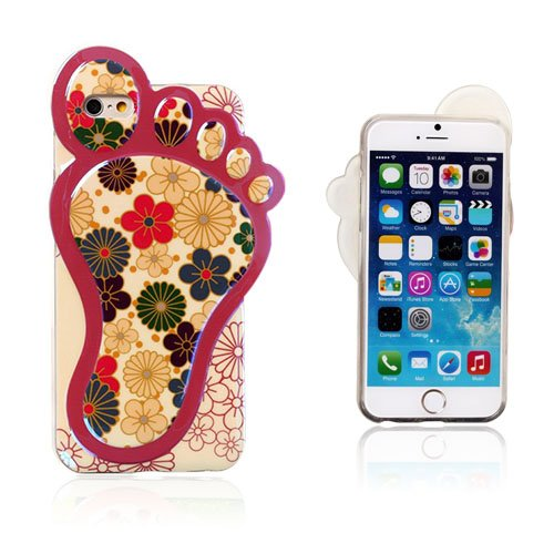 Bilde av 3D Foot (Cartoon Blomster) iPhone 6 Deksel