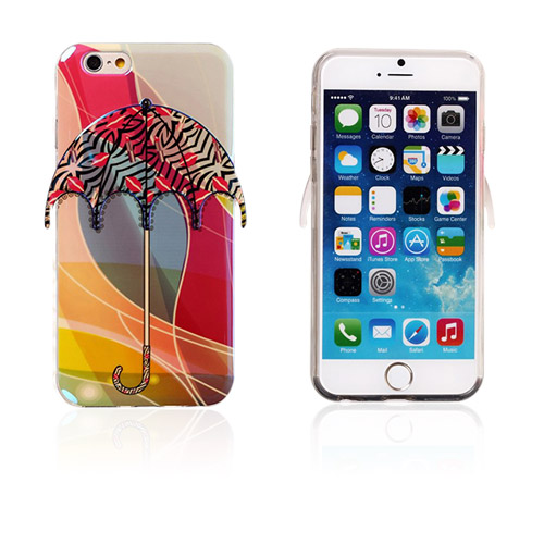 Bilde av 3d Umbrella (rød Lepper Og Zebra Striper) Iphone 6 Deksel