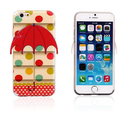 Bilde av 3d Umbrella (fargerik Polka Prikker) Iphone 6 Deksel