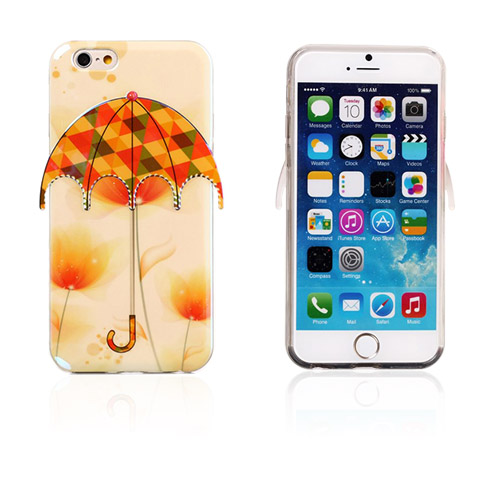 Bilde av 3D Umbrella (Blomster - Trekanter) iPhone 6 Deksel