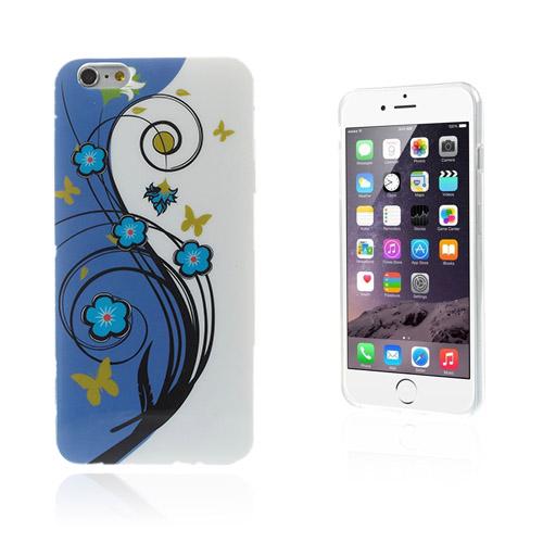 Bilde av Blomster (sommerfugl & Blå Blomster) Iphone 6 Plus Deksel