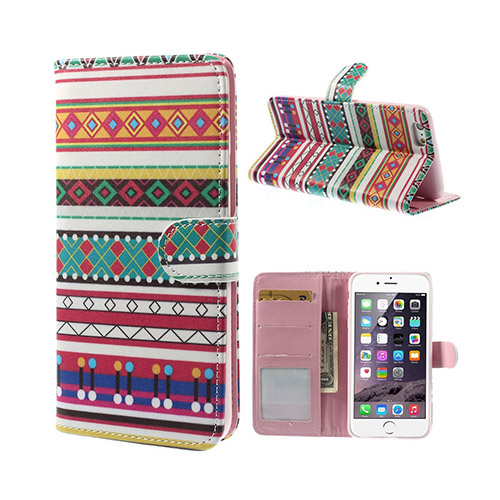 Bilde av African Tribal (geometries) Iphone 6 Plus Etui Med Flip Funksjon