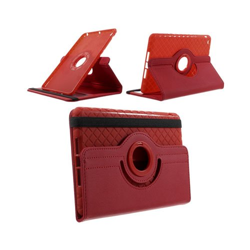 Bilde av Jessen (rød) Ipad Mini 2 / Mini 3 Lær Rotary Stand