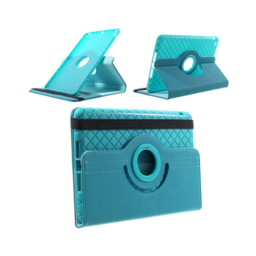 Bilde av Jessen (lyse Blå) Ipad Mini 2 / Mini 3 Lær Rotary Stand