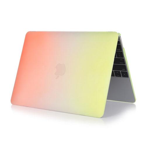 Bilde av Rainbow Macbook 12-inch Retina (2015) Etui - Orange / Gul