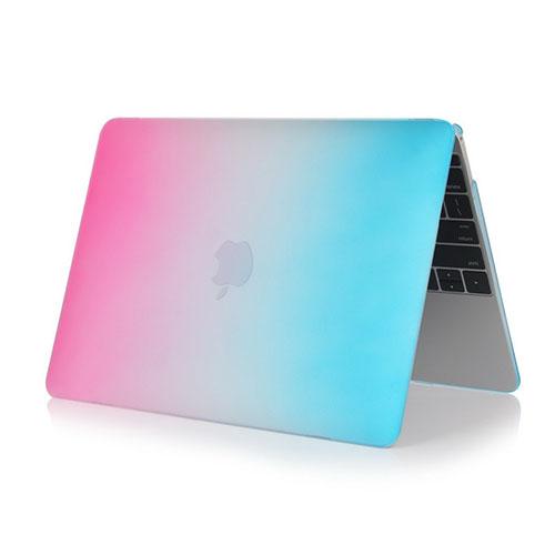 Bilde av Rainbow Macbook 12-inch Retina (2015) Etui - Varm Rosa / Blå