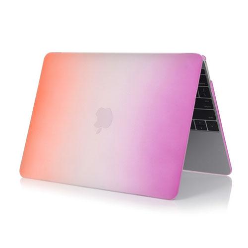 Bilde av Rainbow Macbook 12-inch Retina (2015) Etui - Orange / Lilla