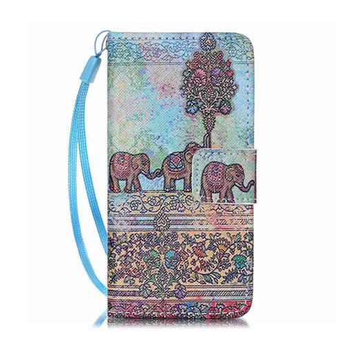 Bilde av Moberg Ipod Touch 6 Kortholderetui Av Lær - Tribal Elefant