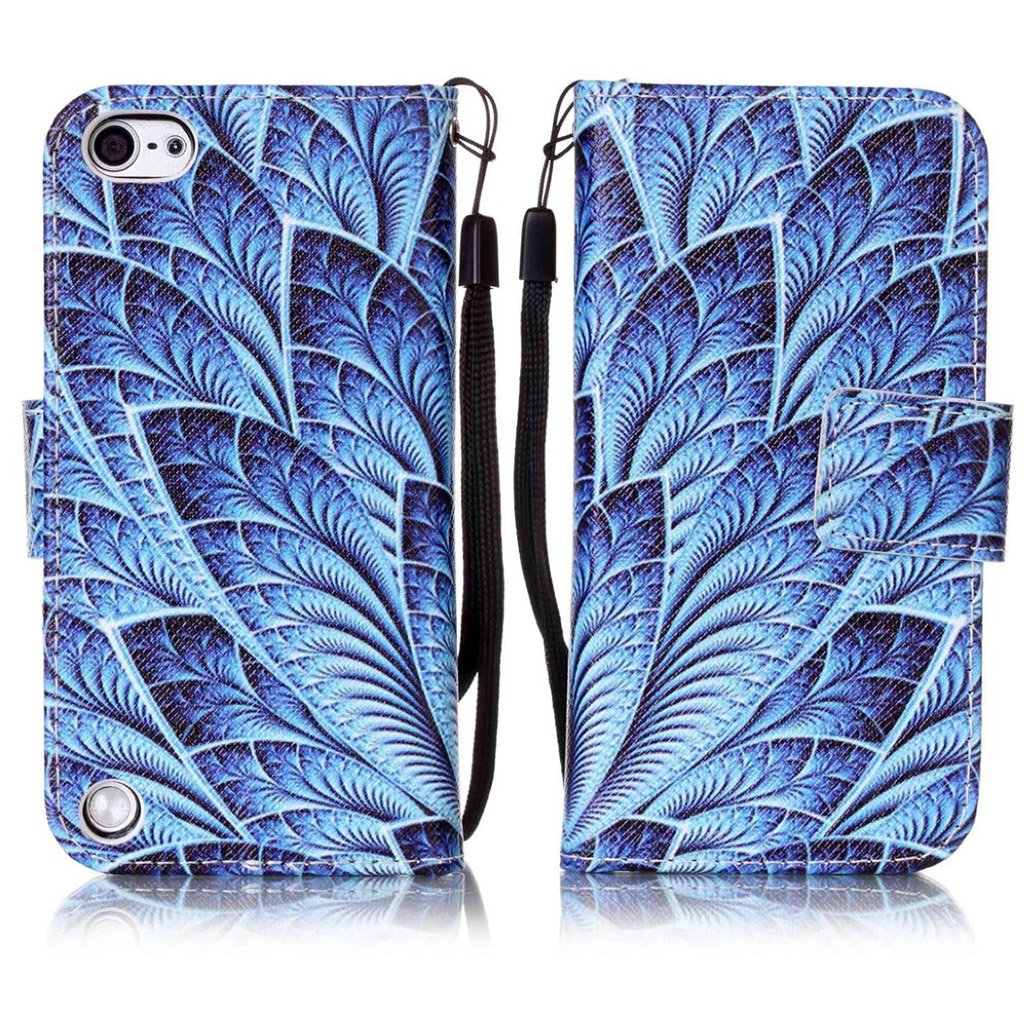 Bilde av Ipod Touch 6 Beskyttelses Deksel I Syntetisk Skinn Med Stropp - Blader