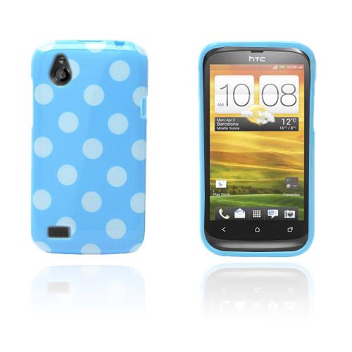 prikker (blå / hvit) HTC Desire V Deksel