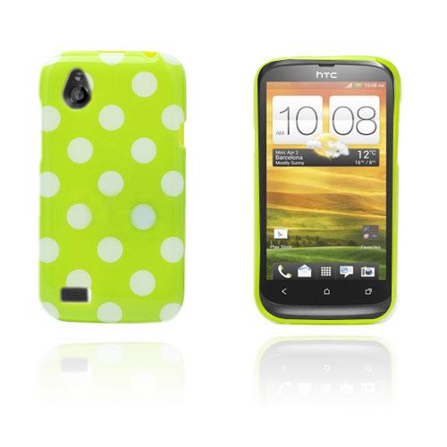 prikker (grønn / hvit) HTC Desire V Deksel