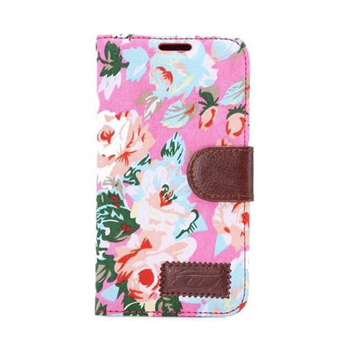 Hagerup HTC One M9 lær Case med Kort Holder - Rosa Elegant Blomster