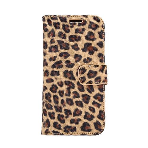 Nature Skin HTC One M9 lær Case med Stand - Brun Leopard
