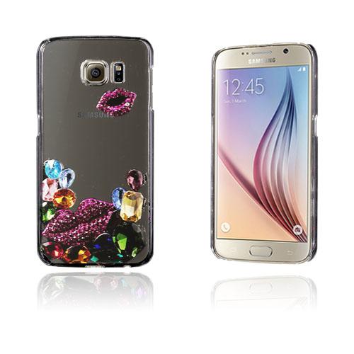 Shine Samsung Galaxy S6 Hard Deksel - 3D Lilla lepper