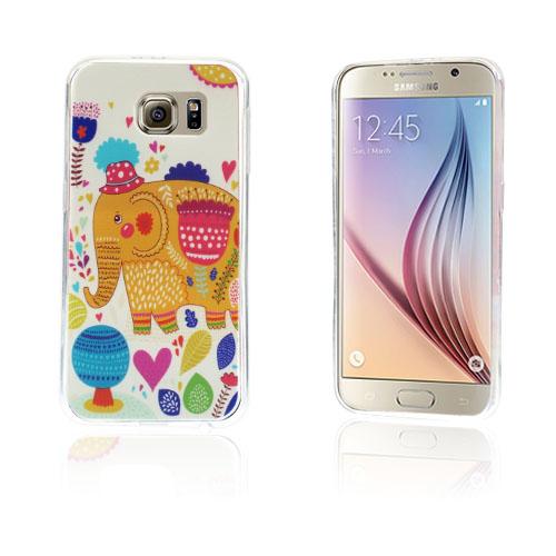 Westergaard Samsung Galaxy S6 Deksel - Søt Elefant og Hjerter