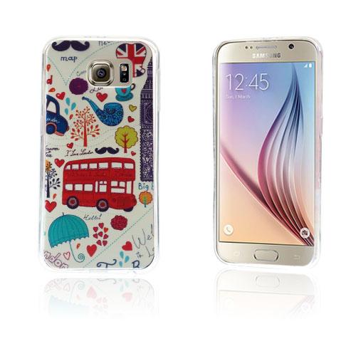 Westergaard Samsung Galaxy S6 Deksel - Cartooon Cars og Trees