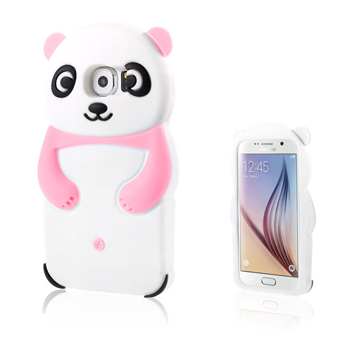 Panda Samsung Galaxy S6 Deksler - Rosa