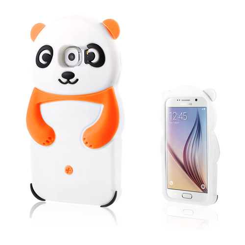 Panda Samsung Galaxy S6 Deksler - Orange