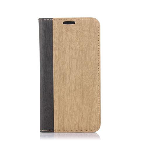 Edwood Samsung Galaxy S6 Lær Flip Etui - Lyse Brun