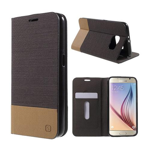 Square Samsung Galaxy S6 lær Case med Kort Holder - Coffee
