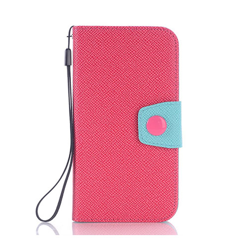 Brooklyn Samsung Galaxy S6 lær Case med lommebok - Varm Rosa