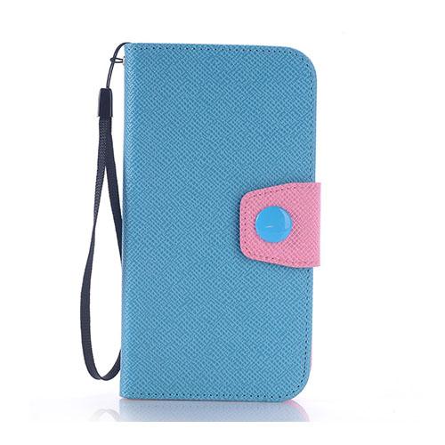 Brooklyn Samsung Galaxy S6 lær Case med lommebok - Blå