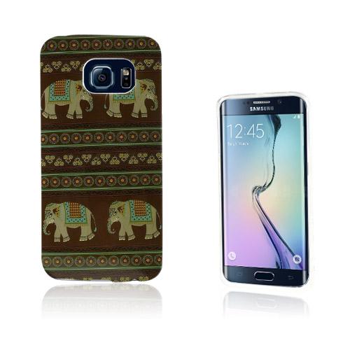 Westergaard Samsung Galaxy S6 Edge Deksler - Brun Tribal Elefants
