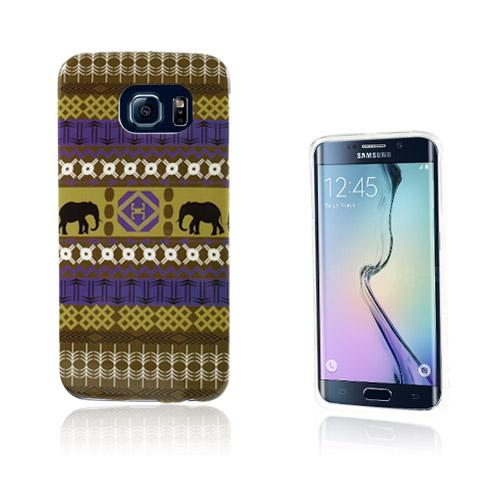Westergaard Samsung Galaxy S6 Edge Deksler - Farget Tribal Elefants