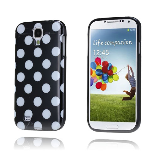 Polka Dots (Sort) Samsung Galaxy S4 Deksel