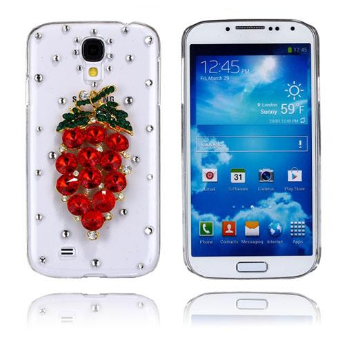 Luksuriøst Bling (Rød Druer) Samsung Galaxy S4 Etui
