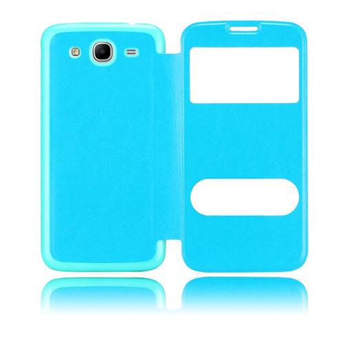 Back Flip (Lys blå) Samsung Galaxy Mega 5.8 Utskiftbart bakdeksel