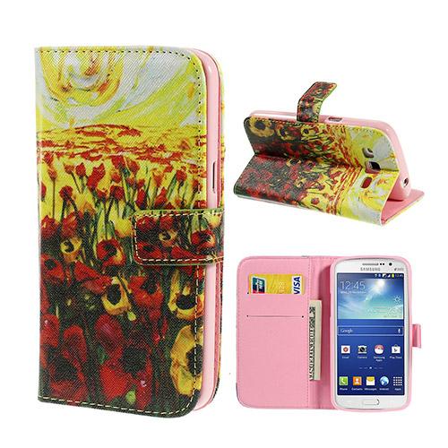 Van Gogh (Vakre Tulipaner) Samsung Galaxy Grand 2 Lær Flipp Etui