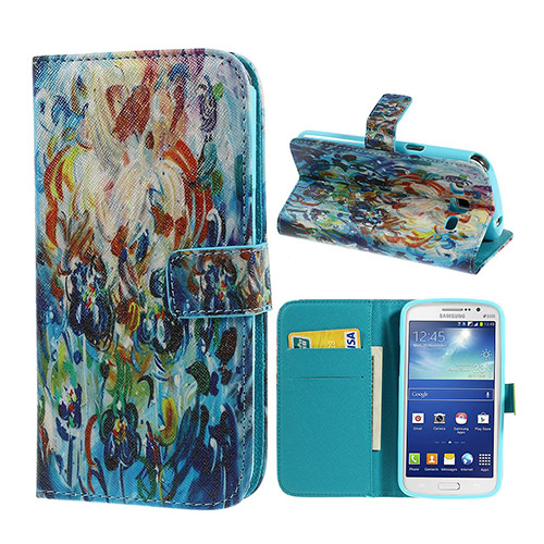 Van Gogh (Abstrakt Blomster) Samsung Galaxy Grand 2 Lær Flipp Etui