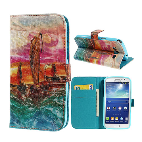 Van Gogh (Ocean Voyage) Samsung Galaxy Grand 2 Lær Flipp Etui
