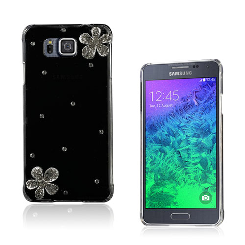 Shine Samsung Galaxy Alpha Deksel - Crystal Blomster