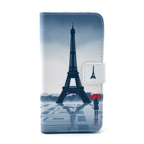 Moberg Samsung Galaxy Alpha Lær Flipp Etui - Eiffel Tårn Reflection
