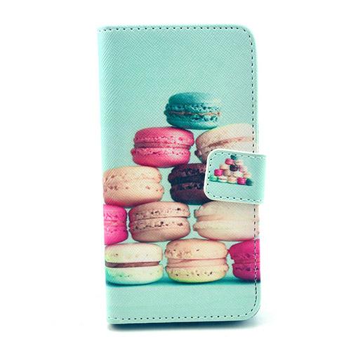 Moberg Samsung Galaxy Alpha Lær Flipp Etui - Macarons
