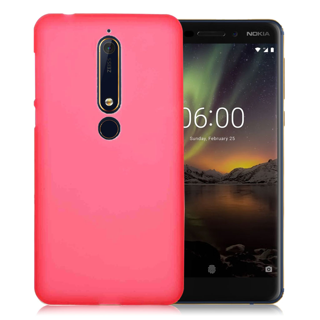 Nokia 6 (2018) double-sided matte TPU case - Red