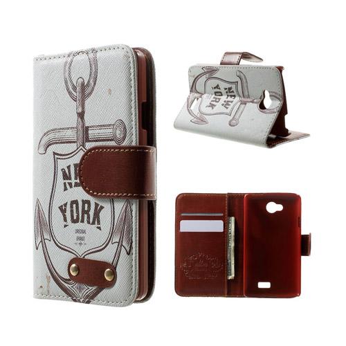 Hagerup LG F60 lær Case med Kort Holder - New York Anchor