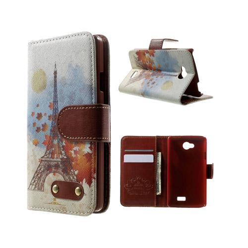 Hagerup LG F60 lær Case med Kort Holder - Eiffel Tårn og Maple Blader