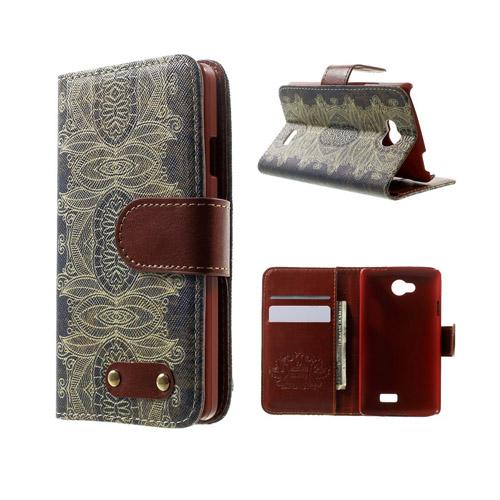 Hagerup LG F60 lær Case med Kort Holder - India Blomst Style