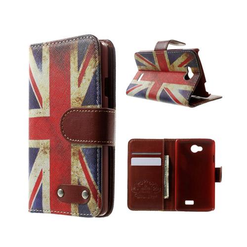 Hagerup LG F60 lær Case med Kort Holder - Vintage UK Flagg