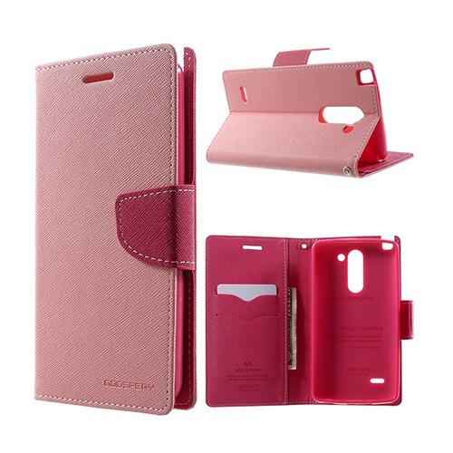 Mercury LG G3 Stylus Lær Flipp Etui - Rosa