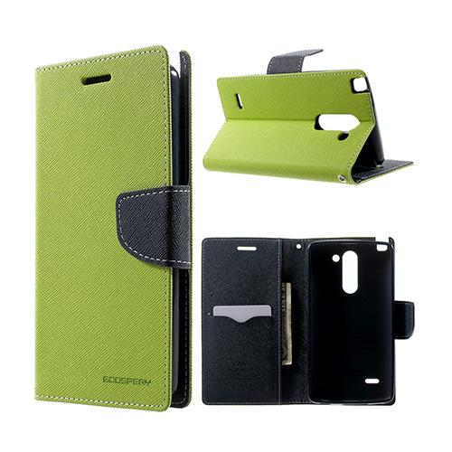 Mercury LG G3 Stylus Lær Flipp Etui - Grønn