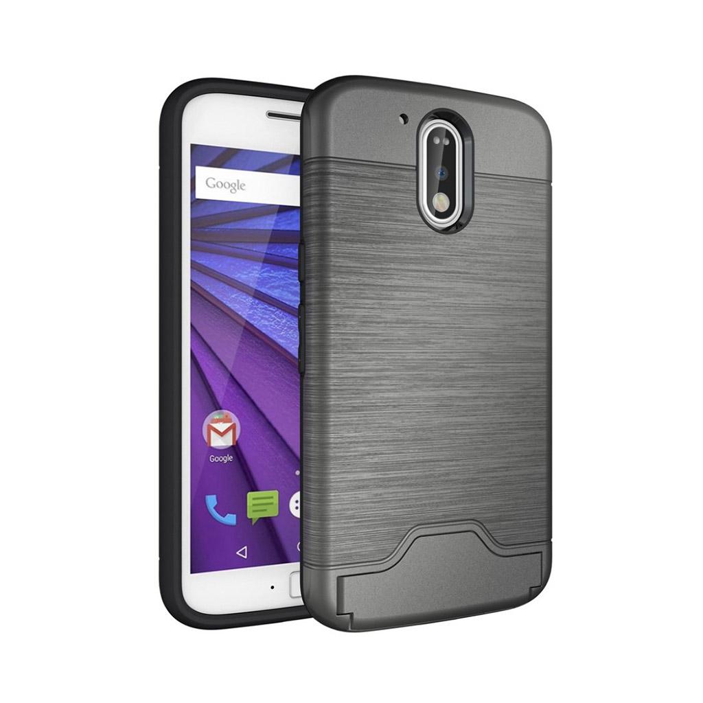 Bilde av Absalon børstet elastisk deksel for Motorola Moto G4 / G4 Plus - Grå