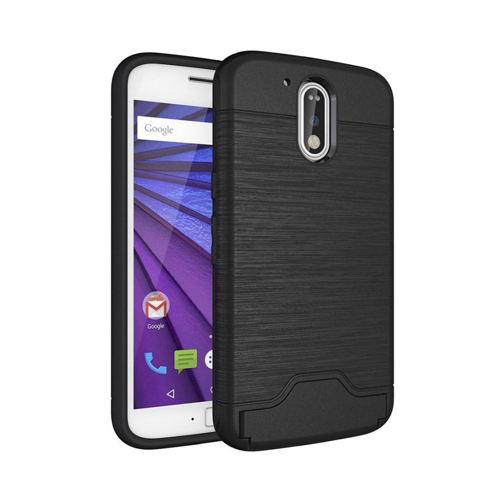 Bilde av Absalon børstet elastisk deksel for Motorola Moto G4 / G4 Plus - Svart