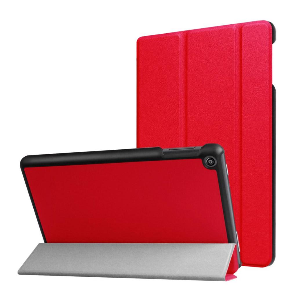 Bilde av Amazon Fire Hd 8 (2017) Tri-fold Litchi Texture Pu Leather Flip Case - Red