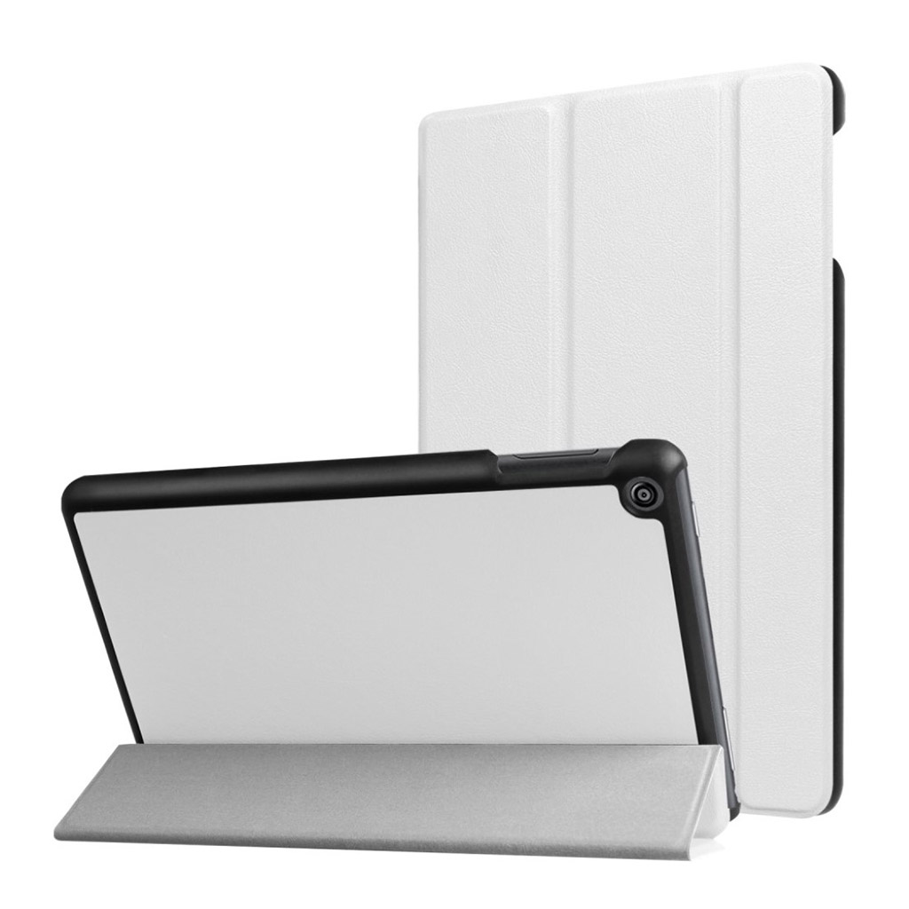Bilde av Amazon Fire Hd 8 (2017) Tri-fold Litchi Texture Pu Leather Flip Case - White